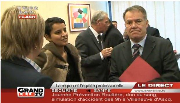 Najat Vallaud Belkacem pour la mixité professionnelle à Lille