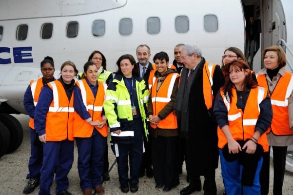 Avec les mécaniennes et les ingénieures aéronautiques à Orly pour l'Egalité Professionnelle