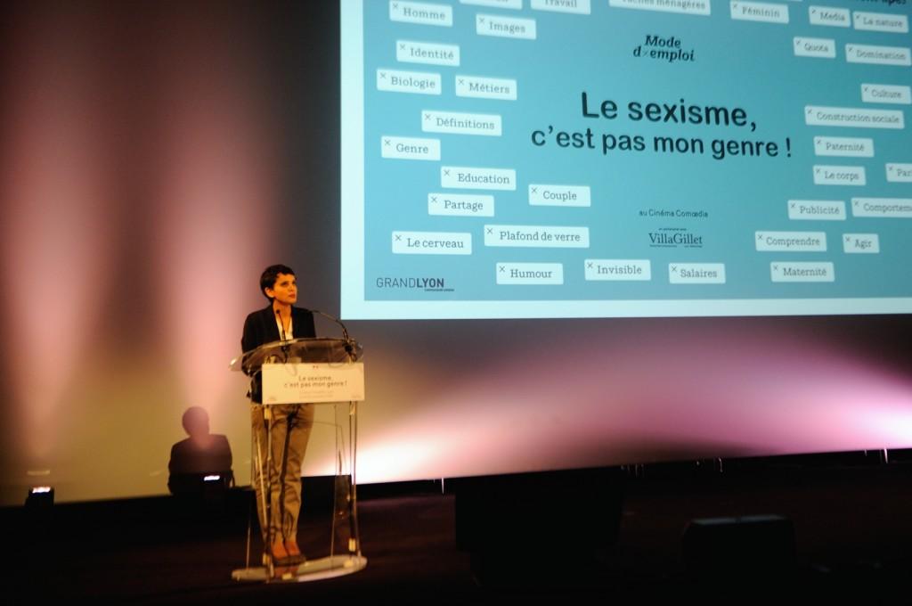 Najat Vallaud-Belkcem, organise à Lyon « le sexisme, c'est pas mon genre »