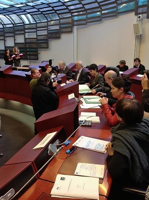 A Rennes , signature de la convention égalité professionnelle femmes-hommes par Najat Vallaud-Belkacem