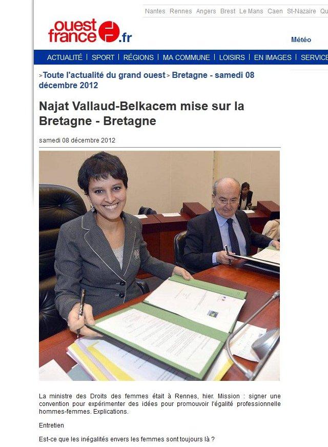 Najat Vallaud-Belkacem mise sur la Bretagne