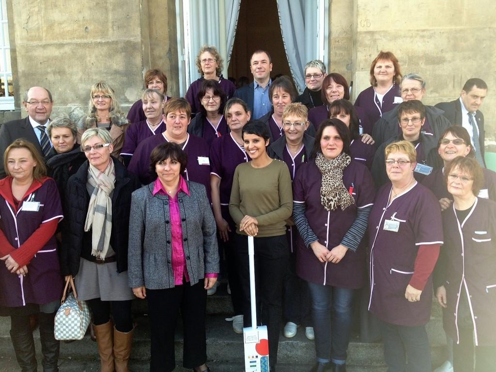 A la Mairie de Caen avec les femmes agents d'entretien