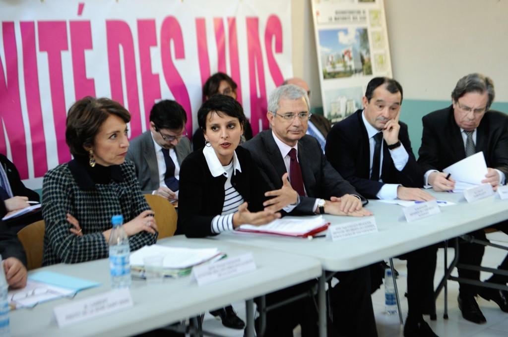 Najat Vallaud-Belkacem et Marisol Touraine à la Maternité des Lilas, 17 janvier 2013, 38ème anniversaire de la loi Veil