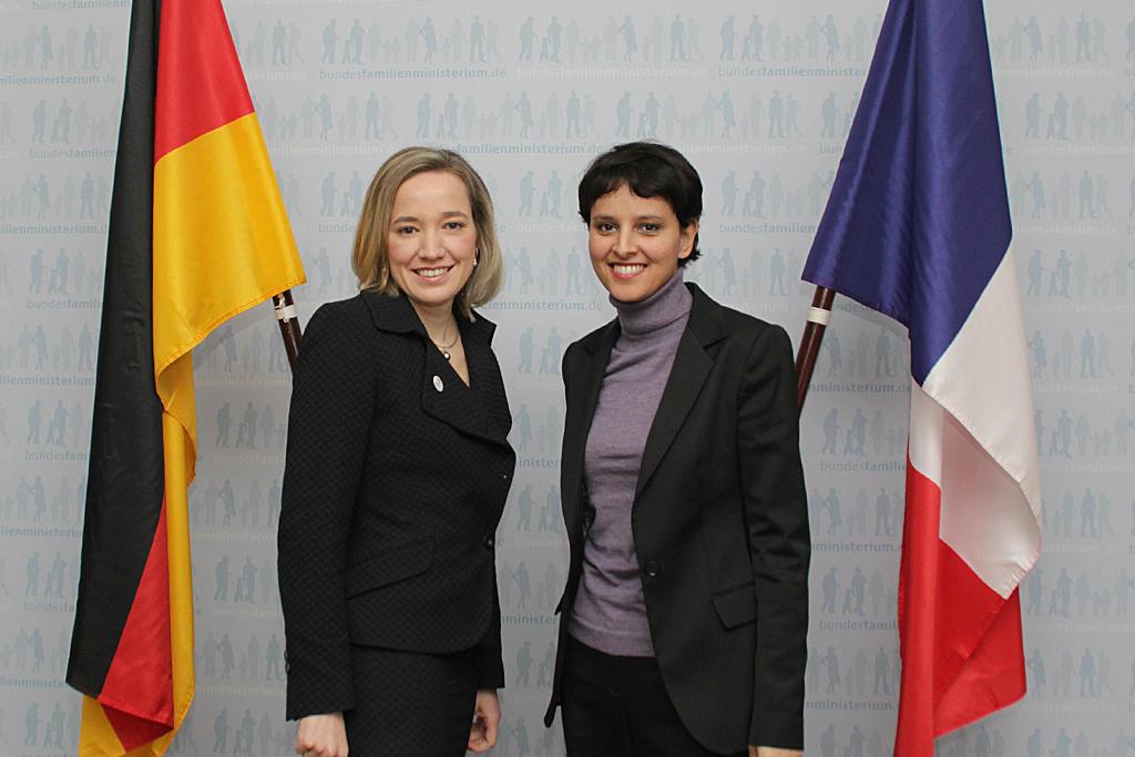 Entretien bilatéral franco-allemand : Najat Vallaud-Belkacem rencontre Kristina Schröder