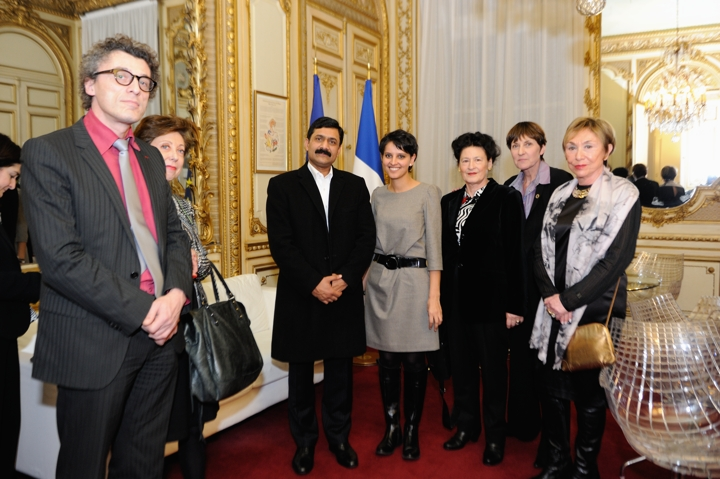 Najat Vallaud-Belkacem : Remise du Prix Simone de Beauvoir à Malala Yousafzaï