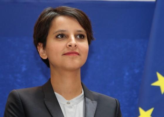 Najat Vallaud-Belkacem passation de pouvoir le 17 mai 2012.