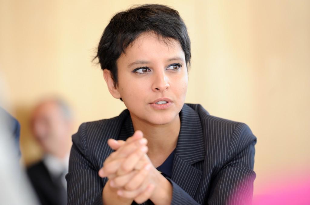Najat Vallaud-Belkacem, porte-parole du gouvernement, à Orly, le 26 nov 2012 - © Razak