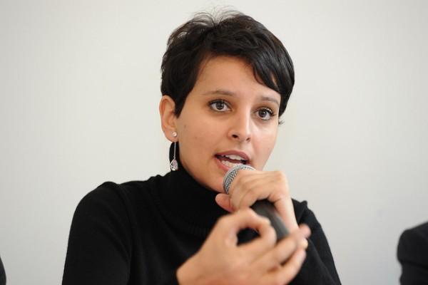 Najat Vallaud-Belkacem en Aquitaine le lundi 4 février 2013.