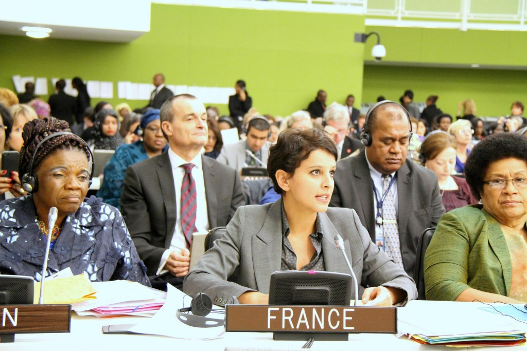 Najat Vallaud-Belkacem à CSW / ONU à New York - Photo © Franceonu/ Caroline Fréchard