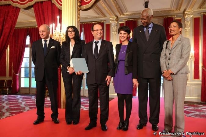 Avec le Président au 1er Forum des Femmes Francophones à l'Elysée