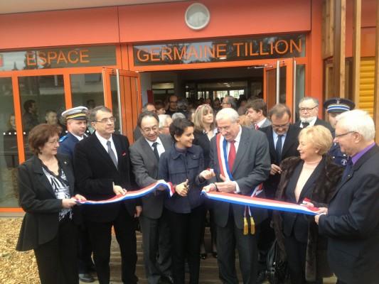 Najat Vallaud-Belkacem, inaugure l'espace Germaine Tillion à Meyzieu