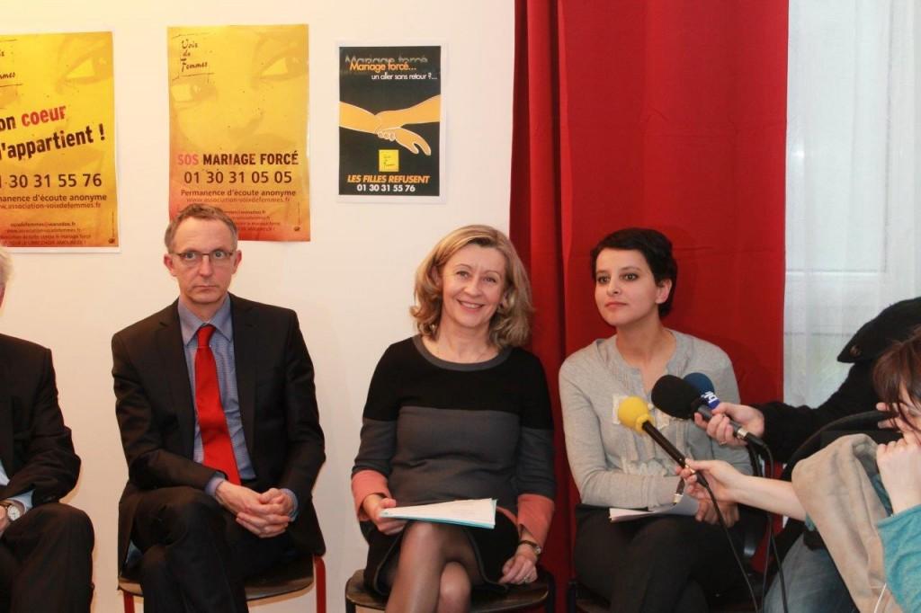 Visite Najat Belkacem-Vallaud et Hélène Conway-Mouret  11 mars 021