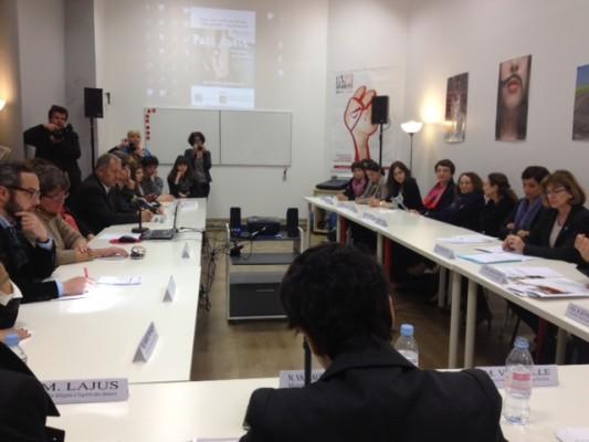 Najat Vallaud-Belkacem en visite au Planning Familial 13