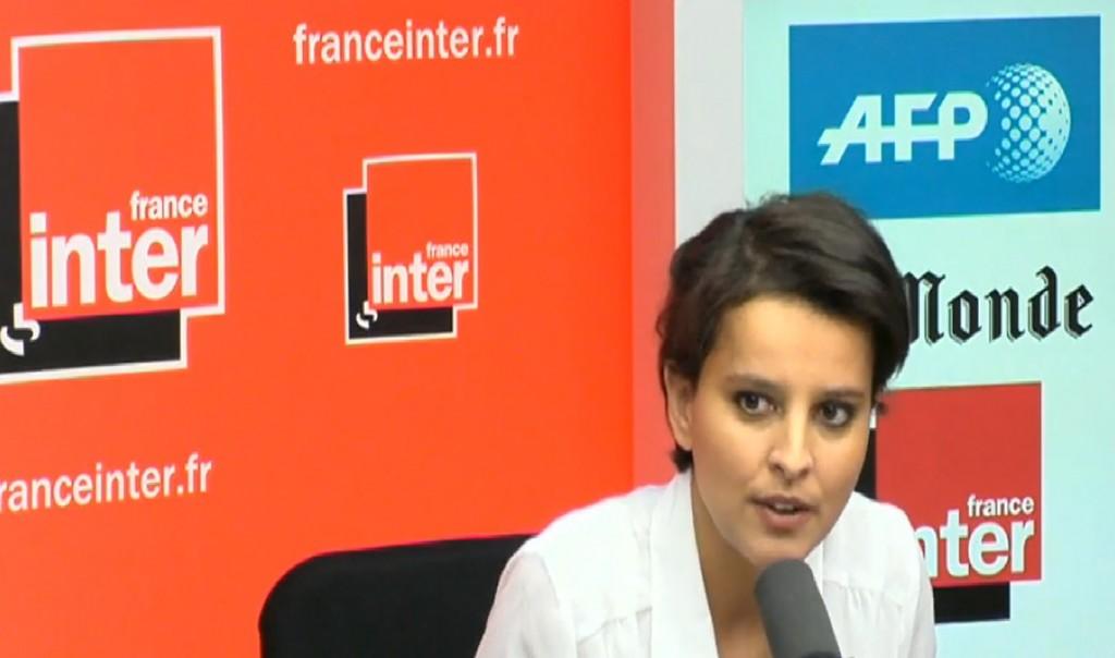 Najat Vallaud-Belkacem sur France Inter ce dimanche 21 avril 2013