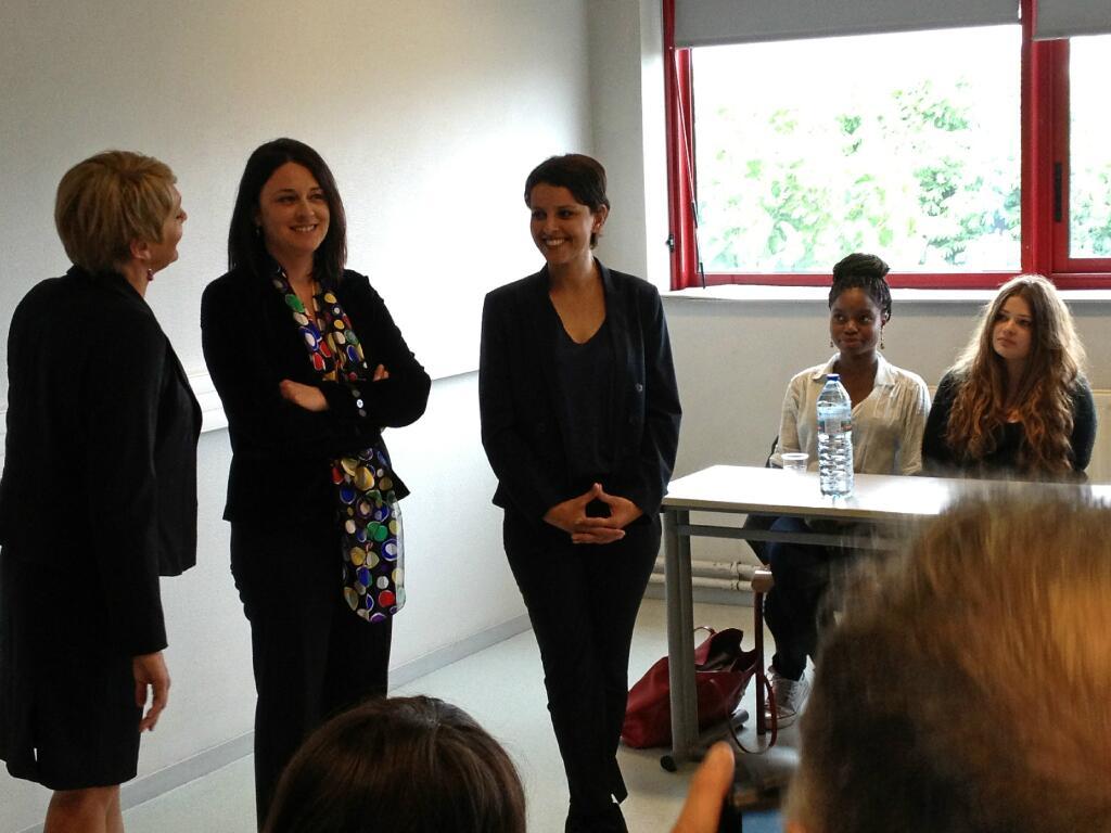 Najat Vallaud-Belkacem et Sylvia Pinel lancent la semaine nationale de sensibilisation l'Entrepreuneriat féminin