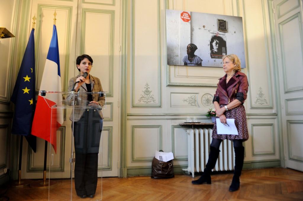 Najat Vallaud-Belkacem et Brigitte Grésy le 28 mars 2013 - © Razak