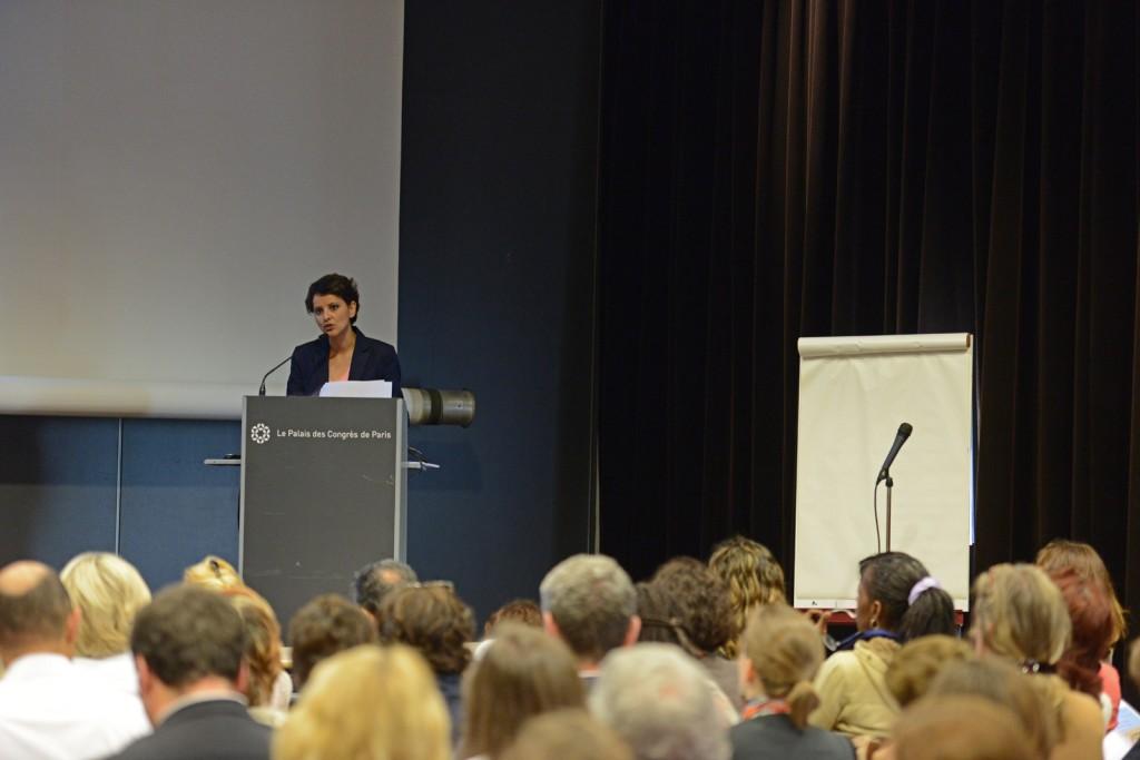 Discours de NajatVB à Planète PME sur l'Entrepreneuriat Féminin - Photo © Razak