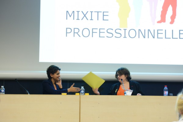 Najat Vallaud-Belkacem à Planète PME avec Geneviève Bel