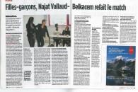 Entretien dans LePoint : «Filles-garçons, Najat Vallaud- Belkacem refait le match»