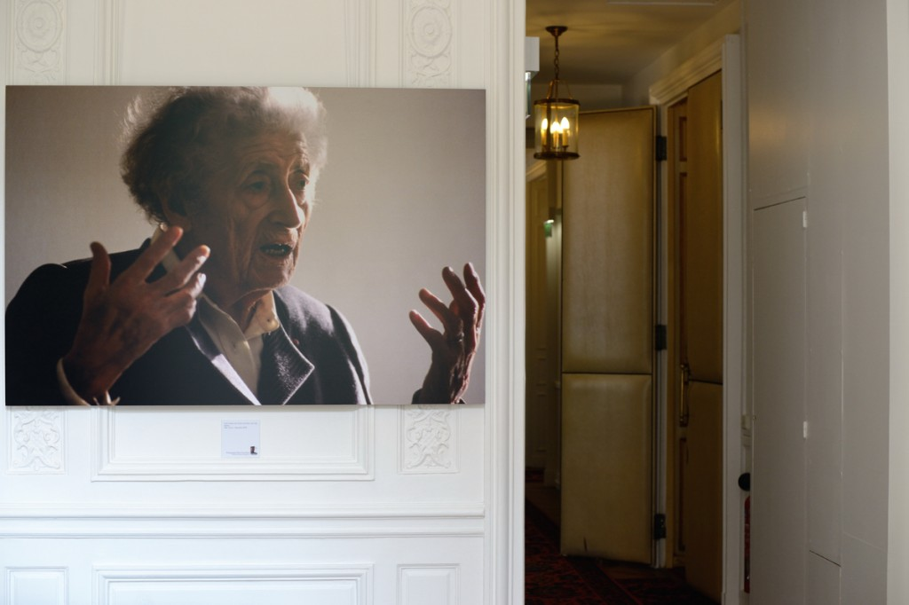 Lucie Aubrac, portrait signé Pierre-Yves Ginet exposé au Ministère des Droits des femmes