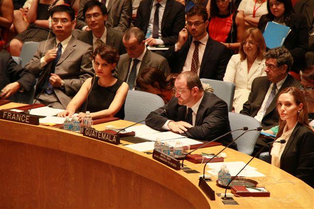 Najat Vallaud-Belkacem et Angelina-Jolie au Conseil de Sécurité de l'ONU