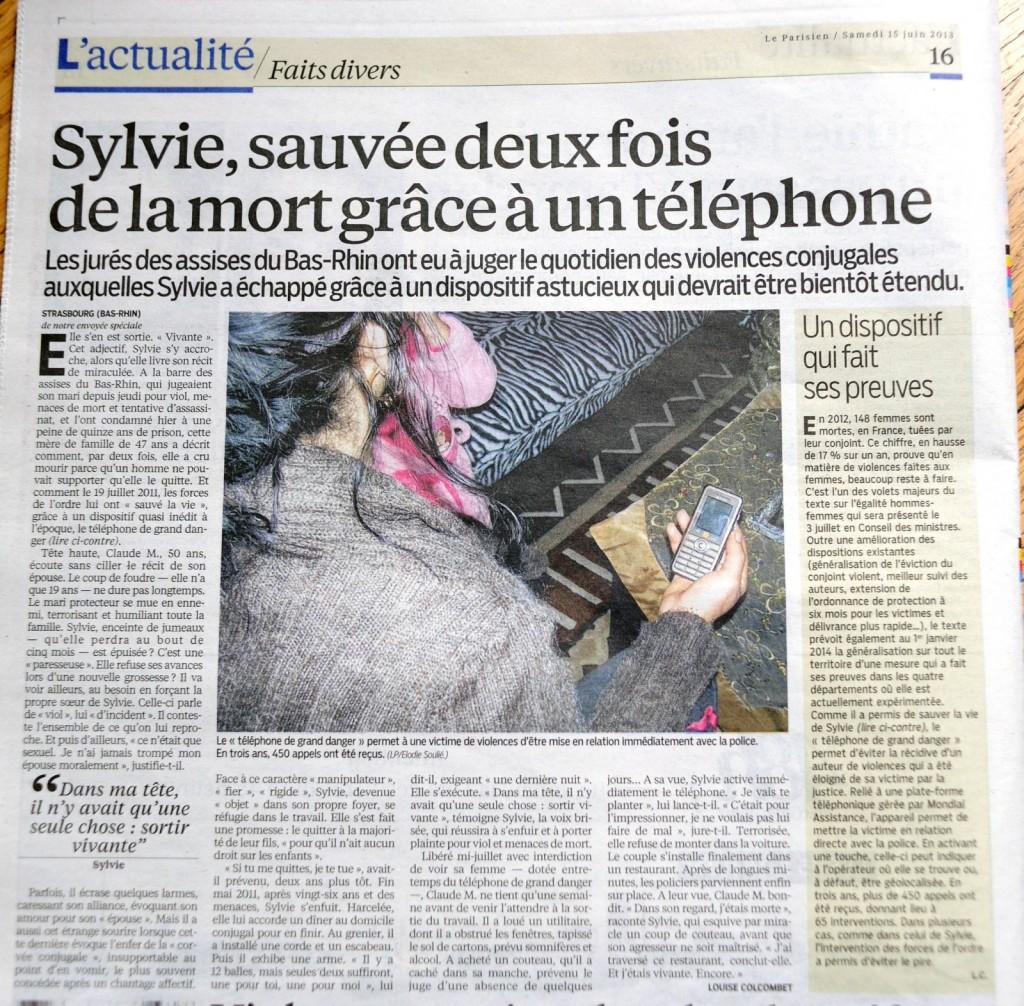Le Parisien - Téléphone Grand Danger