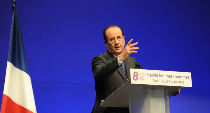François Hollande, discours sur les Droits des Femmes, le 7 Mars 2013 - © Razak