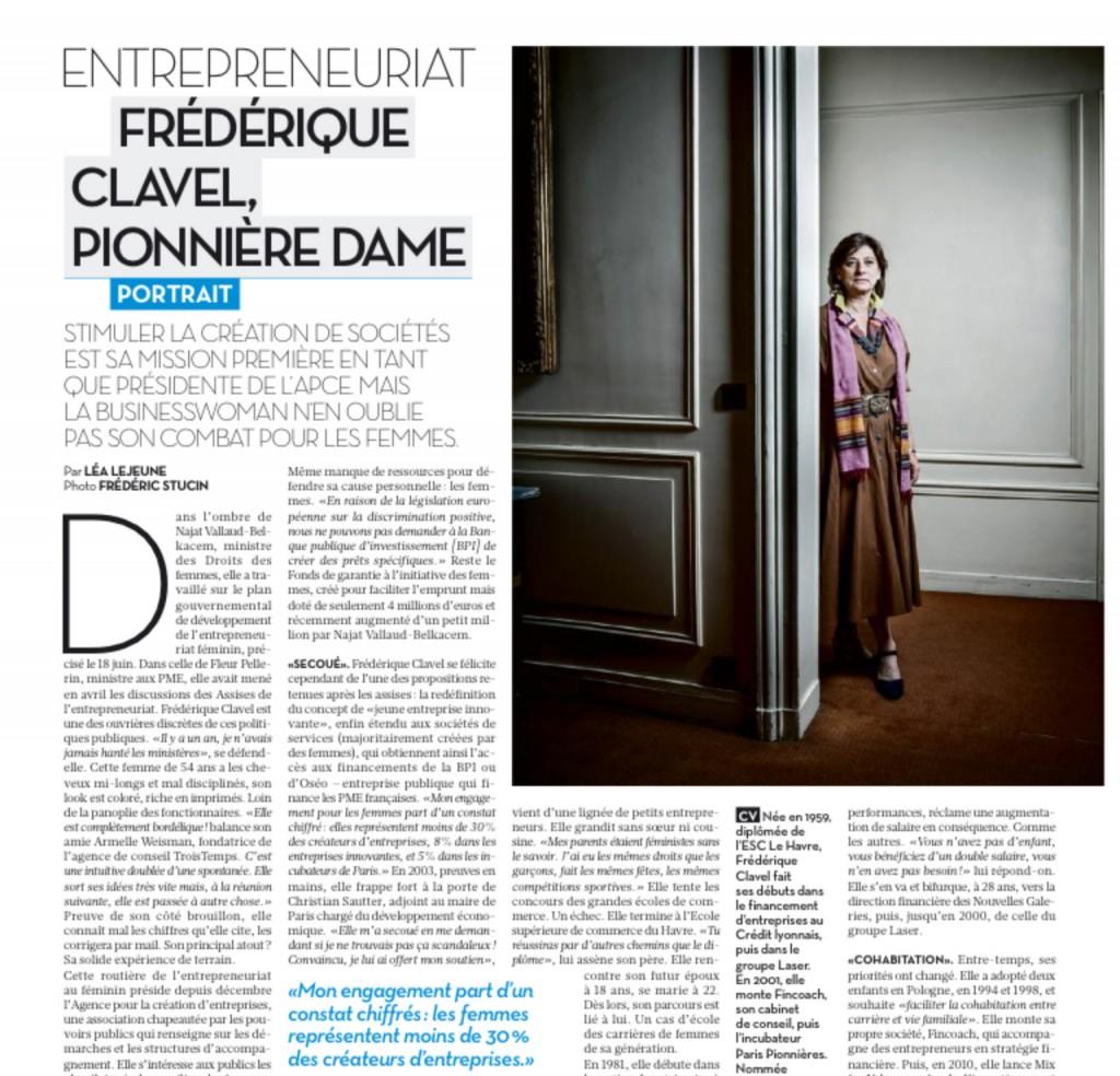 Portrait Frédérique Clavel dans Libération