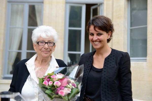 Najat Vallaud-Belkacem et Yvette Roudy pour les 30 ans de la Loi Roudy sur l'Égalité Professionnelle - Photo © Razak