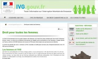 Site ivg.gouv.fr site officiel dédié à l'information sur l'Interruption Volontaire de Grossesse