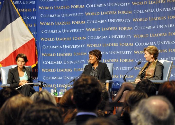 Najat Valalud-Belkacem et Anne-Marie Slaughter : Débat sur l'égalité avec à l'université Columbia de New York