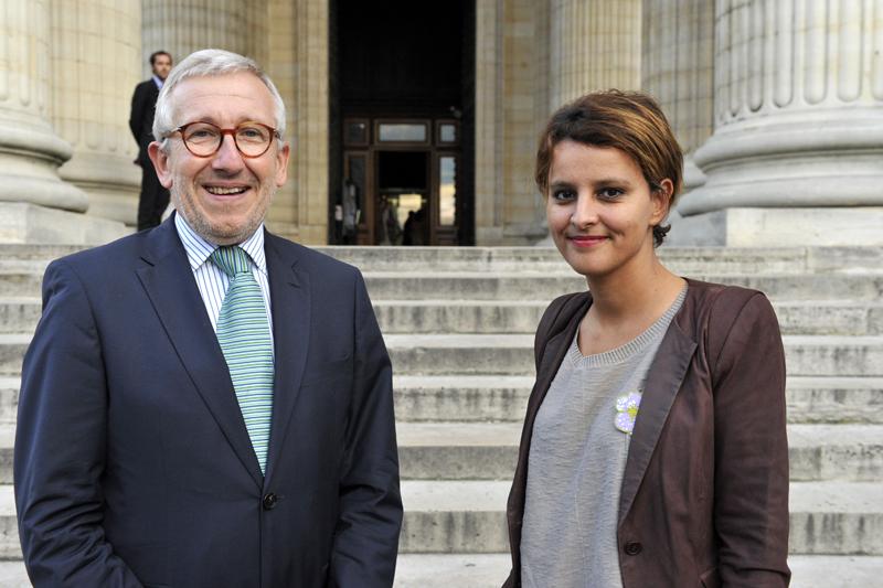 Najat Vallaud-Belkacem et Philippe Bélaval au Panthéon