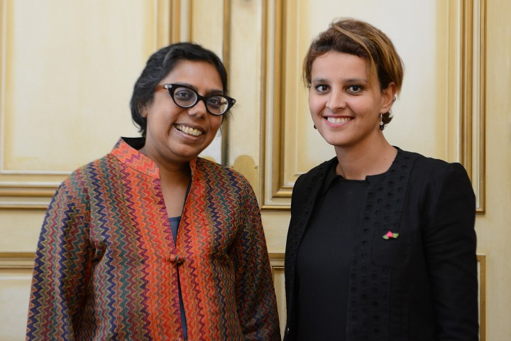 Ruchira Gupta et Najat Vallaud-Belkacem