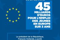 Le chiffre de la semaine : 45 milliards d'euros pour l'emploi des jeunes en Europe sur 3 ans