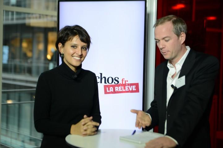 Najat Vallaud-Belkacem invitée de « La Relève » du journal Les Échos - Photo © Razak