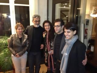 Avec l'équipe du film Wajma