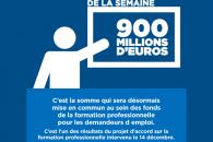 Le chiffre de la semaine : 900 millions d'euros pour la formation professionnelle des demandeurs d'emplois