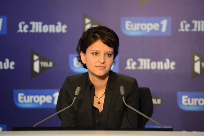 Najat Vallaud-Belkacem à Europe1 - Photo © Razak