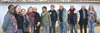 Najat Vallaud-Belkacem a visité l'Espace Elsa-Triolet avec les responsables associatifs