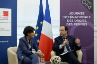 En images, la visite du Président de la République au Ministère des Droits des femmes