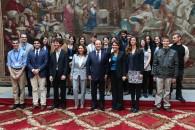 Avec le président et des jeunes français descendants de « Justes parmi les nations »