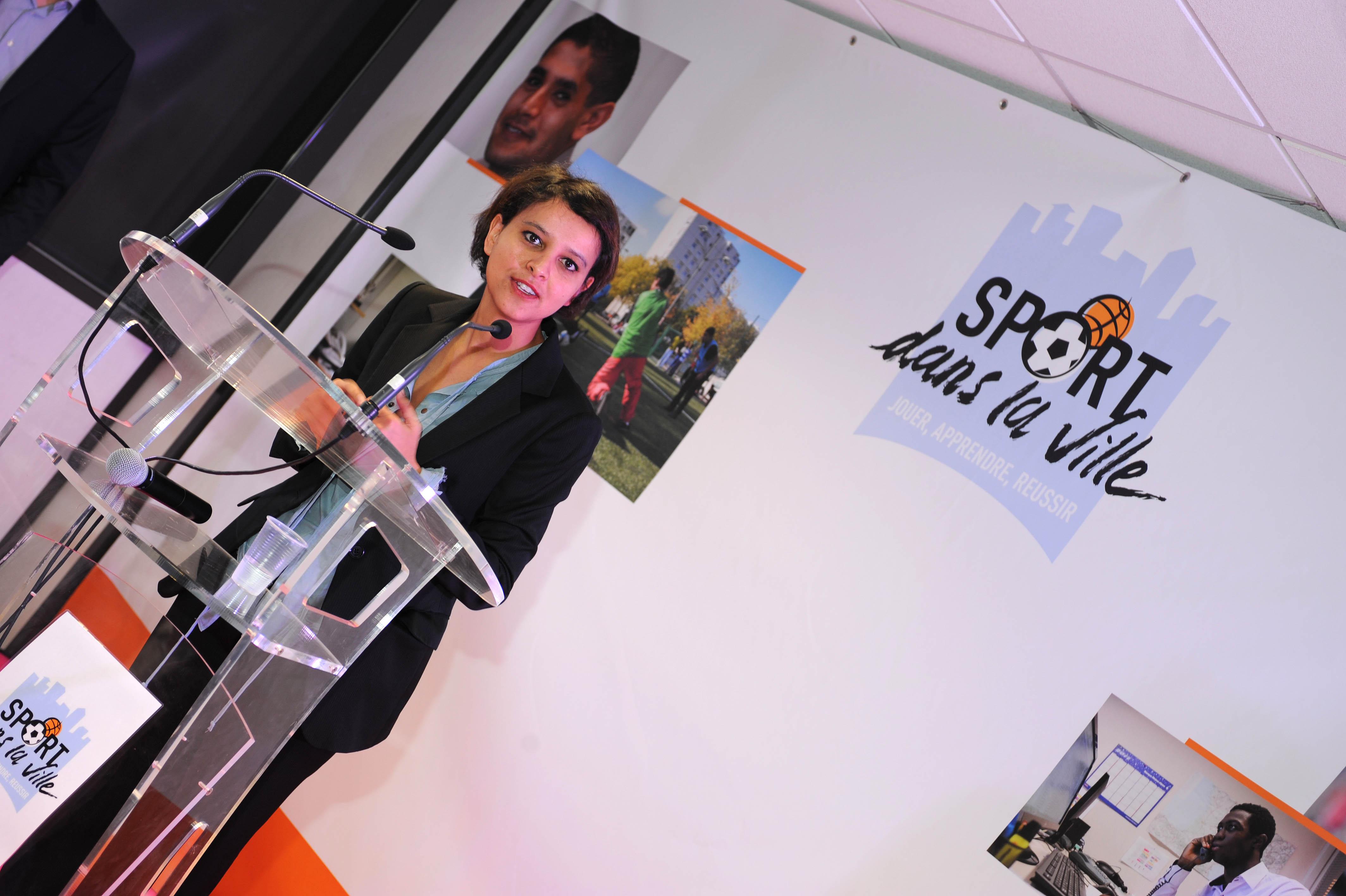 Najat Vallaud Belkacem avec Sport dans la ville a Lyon