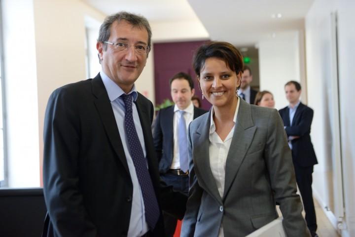 Najat Vallaud-Belkacem - Passation de pouvoir avec François Lamy, Politique de la Ville, 3 avril 2014.