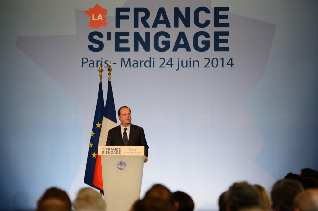 François Hollande lance La France s'engage