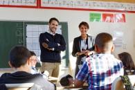 Rentrée scolaire : visite à l'école Diderot de Gennevilliers