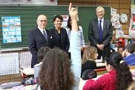 Laïcité : visite de l'école Aragon de Pantin avec Bernard Cazeneuve et Jean-Louis Bianco