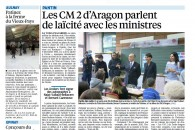 Les CM2 d'Aragon à Pantin parlent Laïcité avec les ministres – Reportage du Parisien