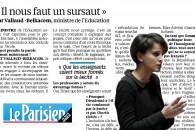 """""""Il nous faut un sursaut"""" – Entretien au Parisien"""