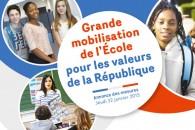 Toutes les mesures pour une grande mobilisation de l'École pour les valeurs de la République