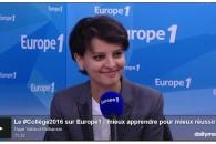 Entretien sur Europe1 : le #Collège2016, mieux apprendre pour mieux réussir